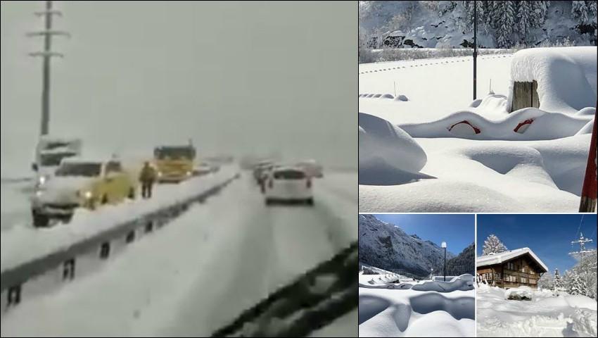 Foto: Video! Ninsori abundente în Spania, Italia și alte țări europene. Trafic, dat peste cap!