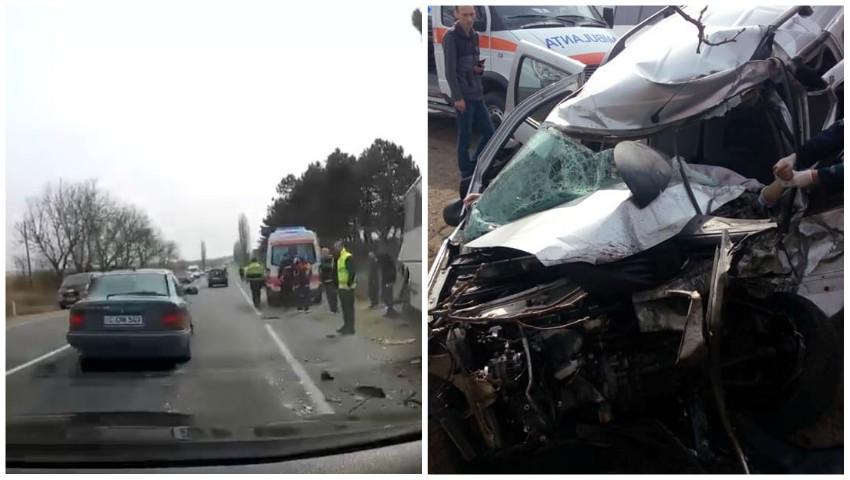 Foto: Accident cumplit la Anenii Noi. Șoferul unui taxi și pasagera acestuia au decedat pe loc