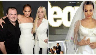 Celebrul designer care a creat rochia de mireasă a Angelinei Jolie, s-a stins din viață