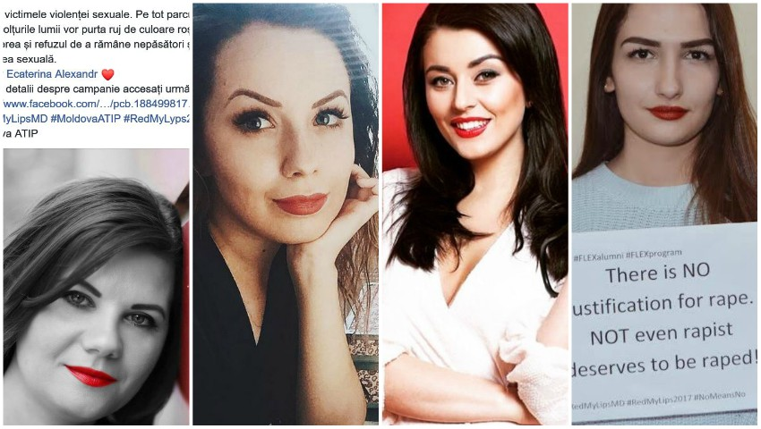 """Foto: S-au alăturat campaniei la nivel mondial! Femeile din Moldova aleg să poarte roșu pentru a spune ,,Stop"""" violenței sexuale"""