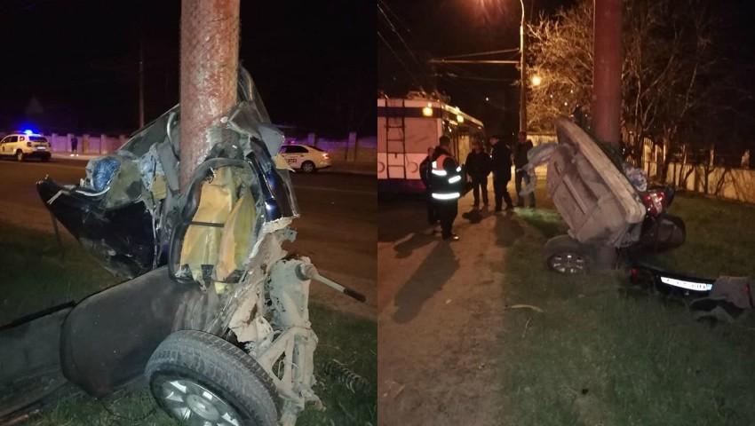 Foto: Accident îngrozitor în sectorul Botanica