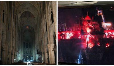 Au apărut primele imagini din interiorul Catedralei Notre-Dame. Altarul și crucea sunt întregi