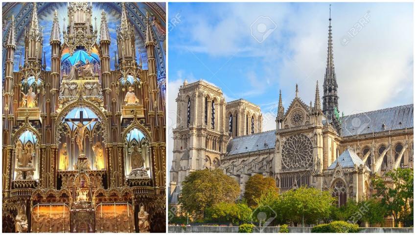Foto: Imagini din interiorul Catedralei Notre-Dame din Paris. Cum arăta până la incendiul devastator!