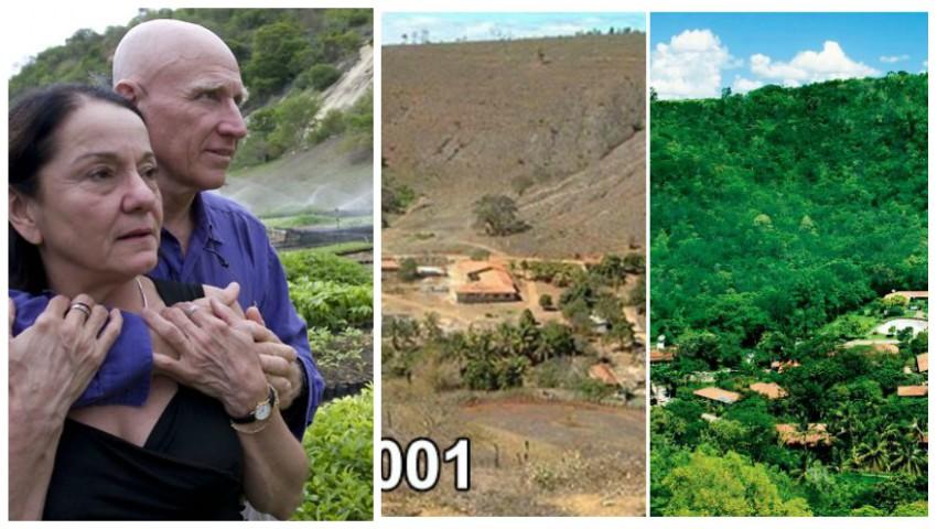 Foto: Doi soți au plantat peste 4 milioane de copaci, timp de 20 de ani, și au făcut ca toate animalele să se întoarcă în pădure