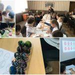 Foto: Elevii de la Liceul de Limbi Moderne și Management au participat la Atelierul de încondeiere a ouălor de Paști!