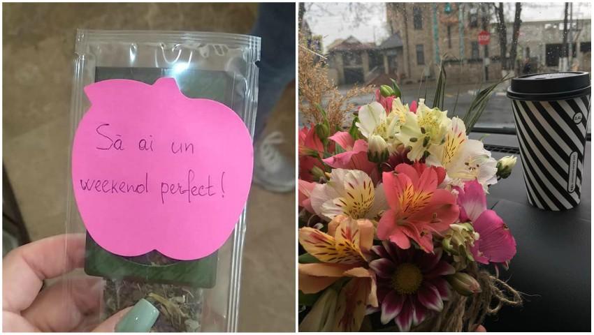 Foto: Un moldovean aflat peste hotare i-a trimis soției sale cadouri, în secret, timp de 3 săptămâni