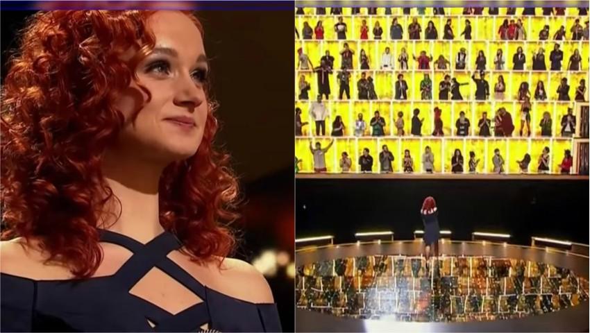 """Foto: O moldoveancă a ridicat în picioare 100 de artiști, la show-ul """"Canta acum cu mine"""""""