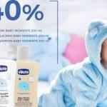 Foto: Reduceri de 40% la produsele de îngrijire Chicco Baby Moments!