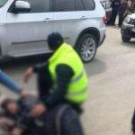 Foto: Accident violent la Drochia. O femeie a rănit o fetiță, după ce a fost aruncată pe acostament de șoferul unui BMW