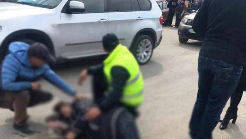 Accident violent la Drochia. O femeie a rănit o fetiță, după ce a fost aruncată pe acostament de șoferul unui BMW