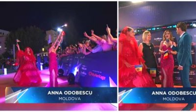 Video. Anna Odobescu a pășit pe covorul roșu de la Tel Aviv, în cadrul ceremoniei de deschidere a concursului Eurovision 2019