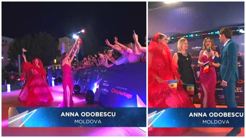 Foto: Video. Anna Odobescu a pășit pe covorul roșu de la Tel Aviv, în cadrul ceremoniei de deschidere a concursului Eurovision 2019