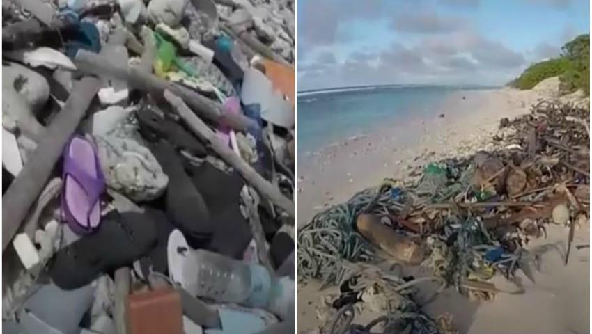 Foto: Un milion de papuci de plastic și periuțe de dinți pe litoralul unei insule turistice