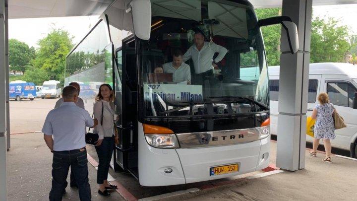Foto: A fost lansată prima cursă de transport de pasageri Chișinău-Milano