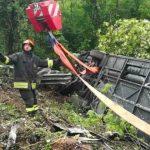 Foto: Un autocar s-a răsturnat în Italia. Printre victime sunt și moldoveni