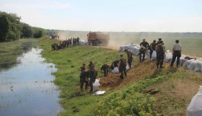 Risc de inundații, marți, în raionul Ștefan Vodă. Salvatorii au intervenit în forță