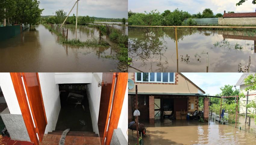 Foto: Grădini și gospodării inundate în țară. A fost nevoie de intervenția salvatorilor