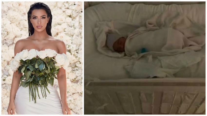 Foto: Kim Kardashian a fost criticată pentru felul în care a amenajat pătuțul bebelușului