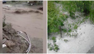 Imagini de coșmar în sudul țării. Un strat de gheața a acoperit pământul, iar drumurile din sate s-au transformat în râuri
