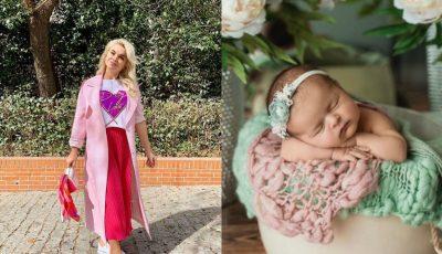 Daniela Ciocanu a publicat imagini cu fetița sa! Miranda a participat la prima ședință foto