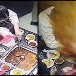 Foto: O supă clocotită a explodat în faţa unei chelneriţe, provocându-i arsuri