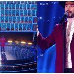 """Foto: Interpretul Maxim Zavidia a făcut senzație la show-ul """"Ну ка, все вместе""""! Vezi câți artiști a ridicat în picioare"""