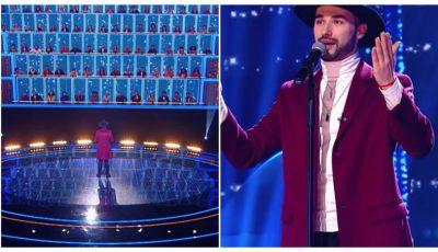 """Interpretul Maxim Zavidia a făcut senzație la show-ul """"Ну ка, все вместе""""! Vezi câți artiști a ridicat în picioare"""