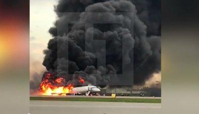 Un avion cu 78 de oameni a luat foc pe Aeroportul Șeremetievo. Au murit 41 de oameni