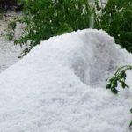 Foto: Troiene de grindină s-au format la Briceni. Foto