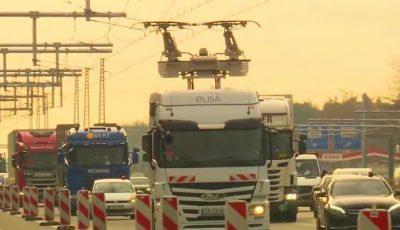 În Germania, a fost deschisă prima autostradă electrică pentru camioane. Video
