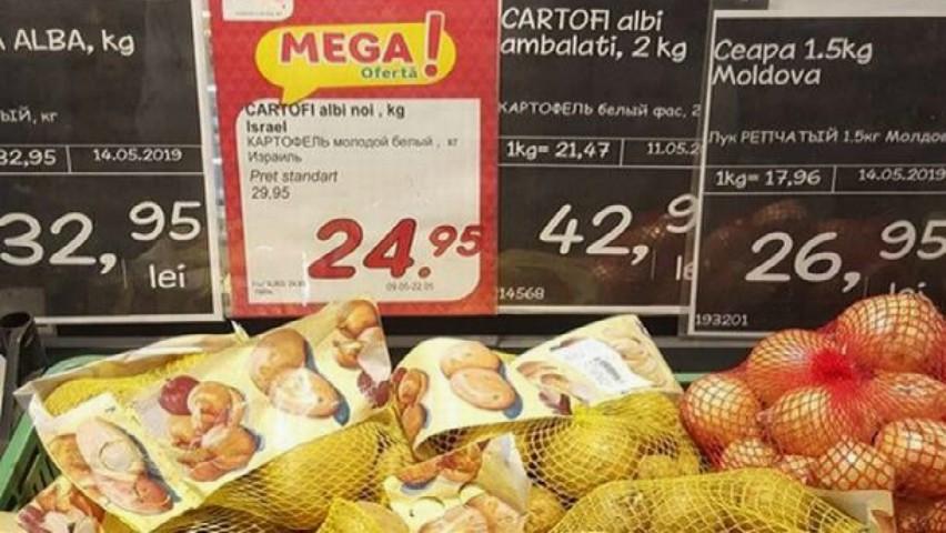 Foto: Cartofi importați din Israel, pe rafturile magazinelor din țara noastră