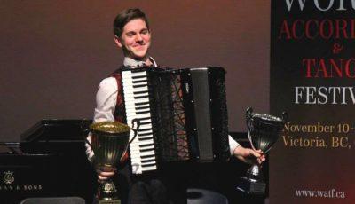 Moldoveanul Radu Rațoi a devenit cel mai bun acordeonist din lume!