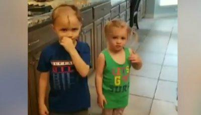 Video. Șocul unei mame: copiii săi s-au tuns singuri