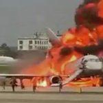 Foto: Imagini de coșmar din interiorul avionului încins la Moscova, surprinse de către un pasager