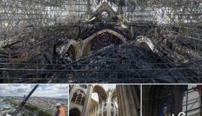 Cum arată acum Notre Dame! Imagini exclusive din interiorul catedralei