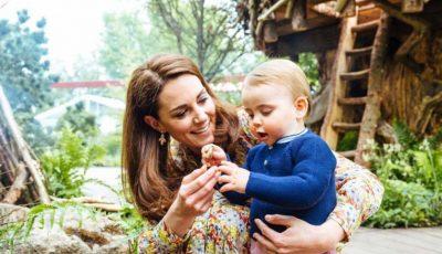 Ducesa de Cambridge a publicat noi imagini adorabile cu Prințul Louis