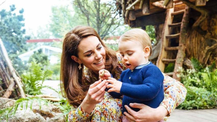 Foto: Ducesa de Cambridge a publicat noi imagini adorabile cu Prințul Louis