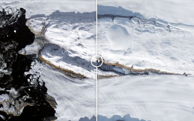 Groenlanda a pierdut 40% din gheaţa sa într-o singură zi