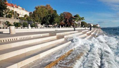 În Croația, a fost construită o orgă de optzeci de metri, la care cântă marea și vântul!