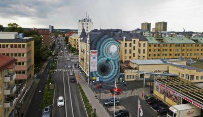 În orașul Örebro, din Suedia, a apărut o pictură murală deosebită realizată de o tânără moldoveancă!