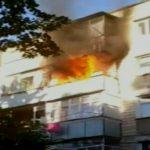 Foto: Incendiu puternic într-un bloc din Capitală
