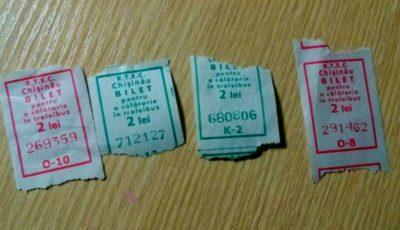 De luni, vor fi introduse bilete noi pentru călătoria cu troleibuzul. Cum vor arăta?
