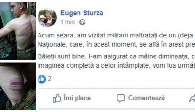 Angajatul Armatei Naționale, care a bătut un soldat a fost concediat și se află în arest preventiv