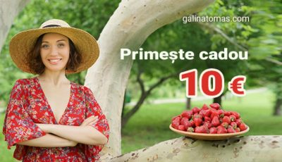 Primește 10 euro cadou accesând platforma galinatomas.com