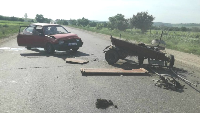 Foto: Accident în satul Prepelița, raionul Sângerei