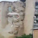 Foto: Video îngrozitor! S-a prăbușit un bloc cu 9 etaje din Otaci
