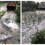 Foto: Ploaie cu grindină la Basarbească