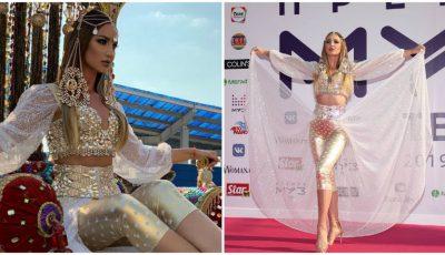 Olga Buzova a făcut show la înmânarea premiilor Muz Tv. Vedeta a apărut pe covorul roșu, călare pe o cămilă