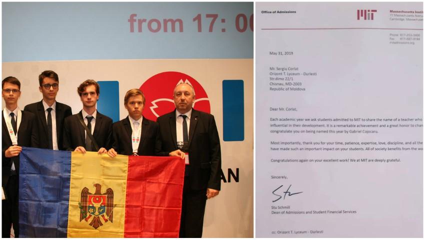Foto: Profesorul moldovean care a primit o scrisoare de recunoștință de la Institutul de Tehnologie din Massachusetts