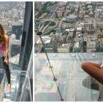 Foto: Video. Podeaua de sticlă al unui zgârie-nori din Chicago a crăpat la etajul 103, sub picioarele unor turiști